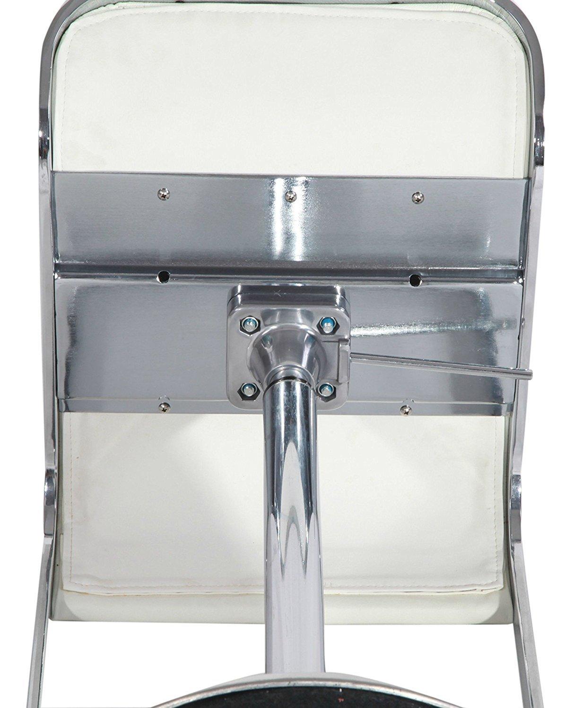 Барный стул LEM  Style Piston Stool белая кожа - вид 7