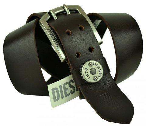 Мужской ремень из телячей кожи Diesel 45-16 chocolate
