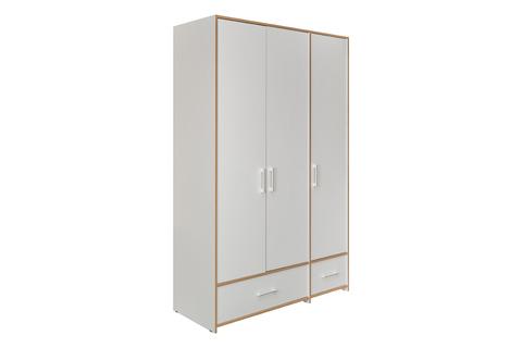 Шкаф для одежды Вуди 10.77 Моби белый премиум, дуб золотой craft