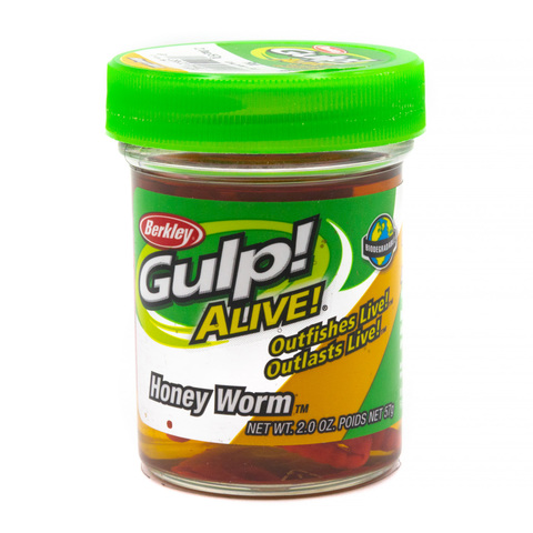 Приманка силиконовая Berkley Gulp! Alive! Honey Worm 3 см. Red (1157022) Имитация опарыша