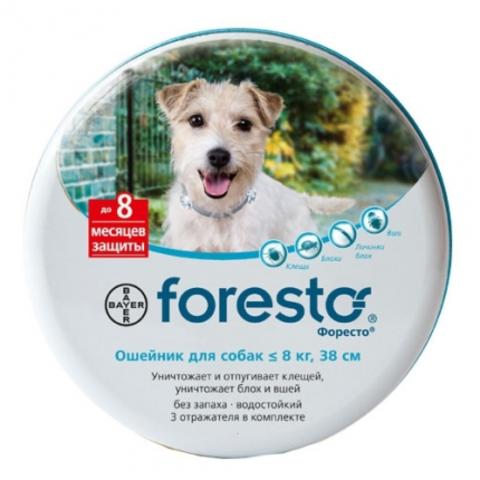 Форесто ошейник от блох и клещей для собак меньше 8 кг   38 см