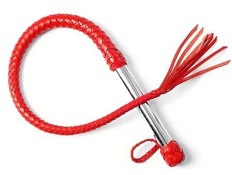 Однохвостая красная плеть с хлопушкой - 70 см.
