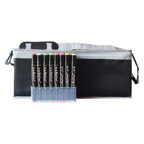 Набор спиртовых маркеров TOUCH COOL в сумке-пенале с наплечным ремнем, 204 цвета (уценка)