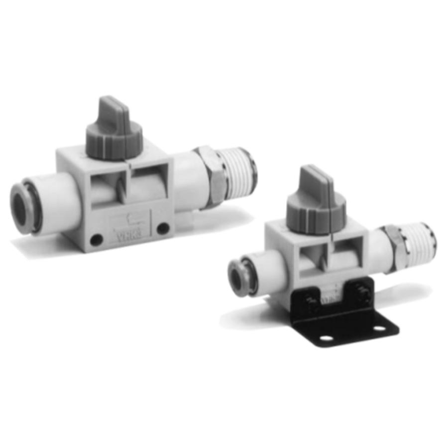 VHK2-01S-04F  2/2-Ручной пневмораспределитель