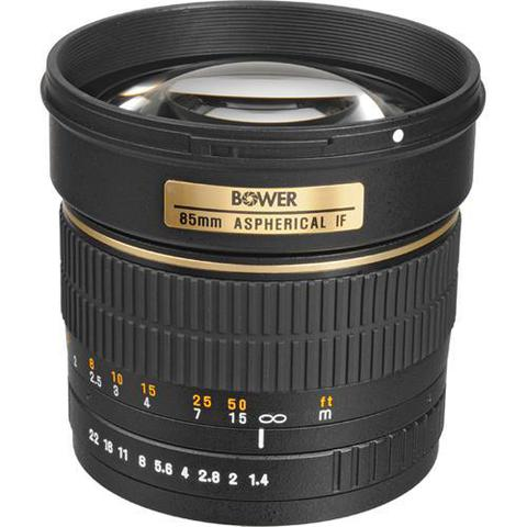 Объектив Bower 85mm f/1.4 Black для Canon