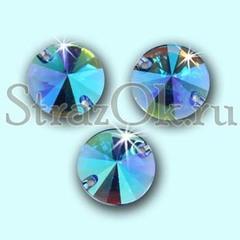 Купите стразы пришивные Rivoli Light Sapphire AB, Риволи Круг Сапфир АБ светло-синие