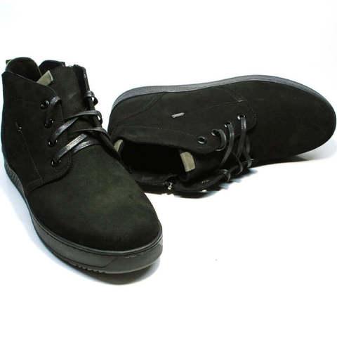 Модные ботинки мужские зимние кожаные. Ботинки на толстой подошве Ikoc WBN