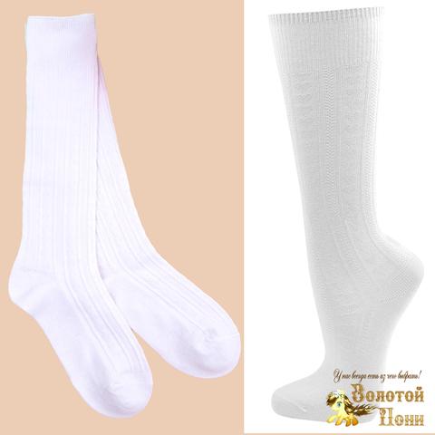 Гольфы белые хлопок девочке (4-12) 200302-Z0707