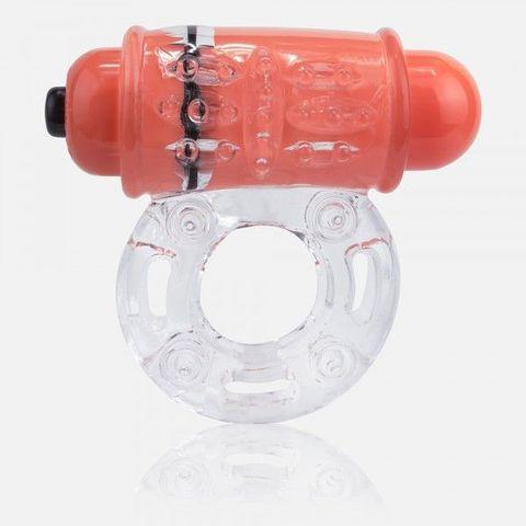 Неоновое оранжевое кольцо на пенис O wow!