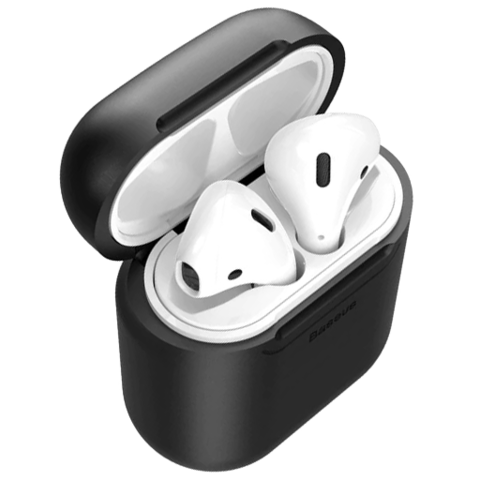 Baseus / Чехол с беспроводной зарядкой для Airpods | черный
