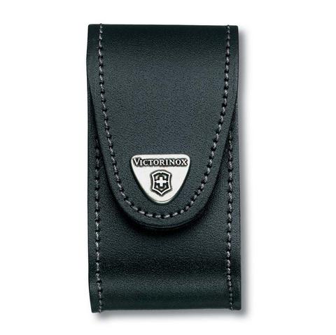 Чехол кожаный Victorinox, для ножей 91 мм, толщиной 5-8 уровней, чёрный