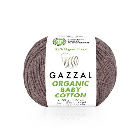 Пряжа Gazzal Organic Baby Cotton 433 сухая роза