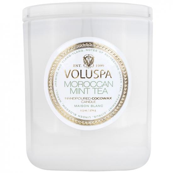 Свечи Ароматическая свеча 270г в подарочной коробке Voluspa Светлая домашняя коллекция Марокканский мятный чай 8104-1.jpg