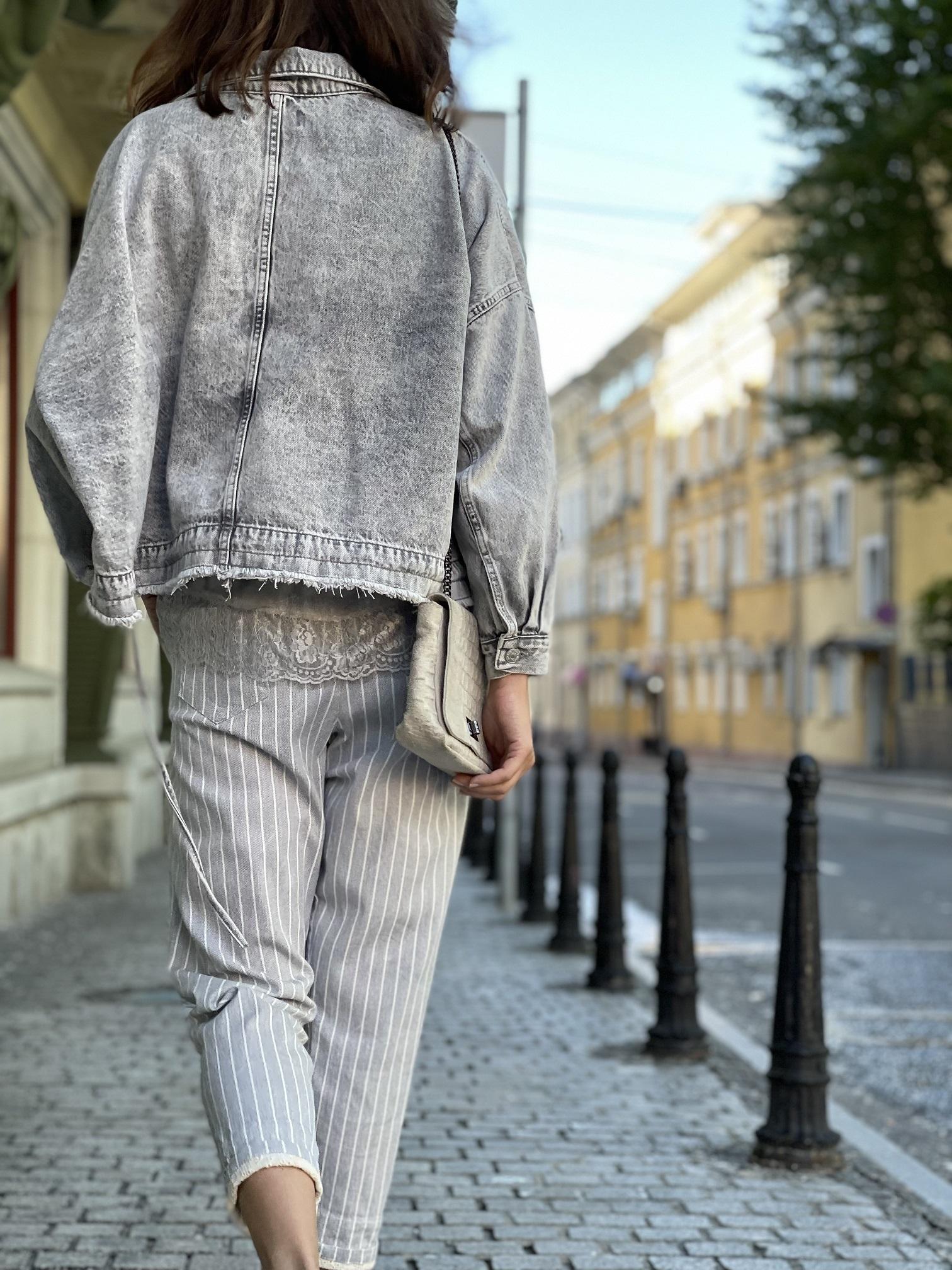 Джинсовая куртка, UNO, Freedom (светло-серый)