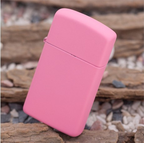 Зажигалка ZIPPO 1638 Pink Matte Slim Тонкая