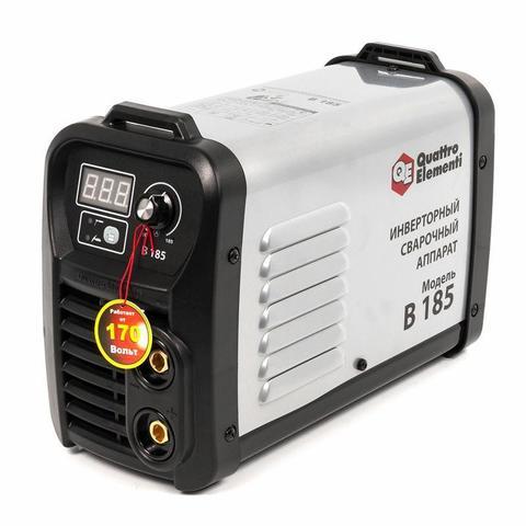 Аппарат электродной сварки, инвертор QUATTRO ELEMENTI B 185 (185 А, ПВ 80%, до 4.0 мм, 5.0 (772-418)