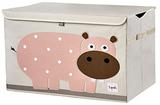 Сундук для хранения игрушек 3 Sprouts Бегемот (розовый)