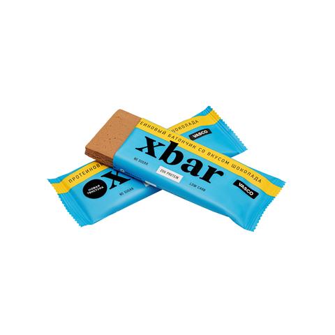 Батончики протеиновые Xbar со вкусом шоколада, без сахара 60 г