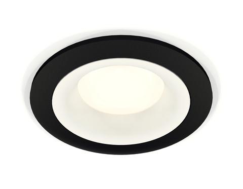 Комплект встраиваемого светильника XC7622001 SBK/SWH черный песок/белый песок MR16 GU5.3 (C7622, N7010)