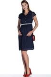 Платье для беременных 08487 синий