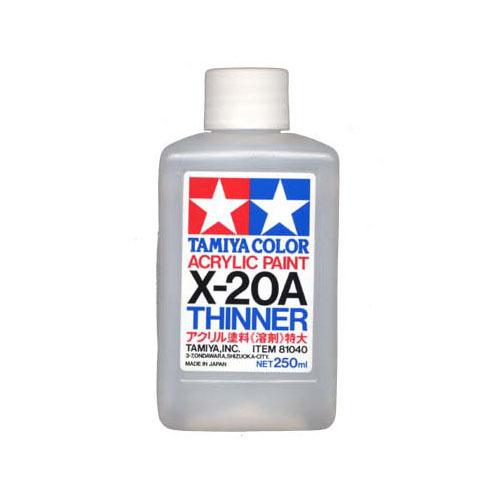 Tamiya Акрил X-20A Tamiya, Разбавитель для акриловых красок (Acrylic Thinner) 250мл 81040.jpg