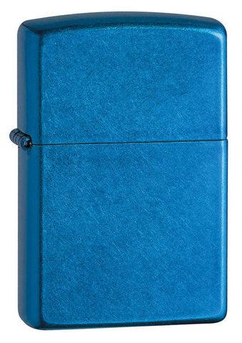 Зажигалка Zippo с покрытием Cerulean, латунь/сталь, синяя, глянцевая, 36x12x56 мм