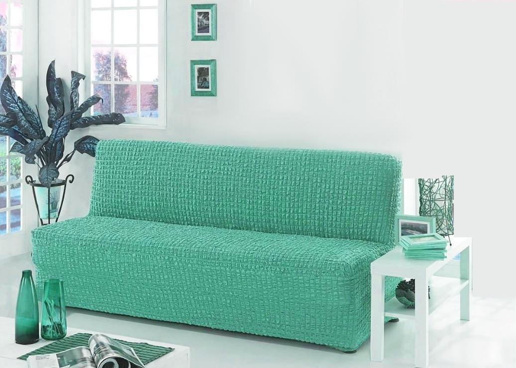 Чехол на диван без подлокотников, бирюзовый