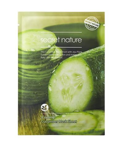Освежающая маска для лица с огурцом - Secret Nature Cucumber Mask Sheet
