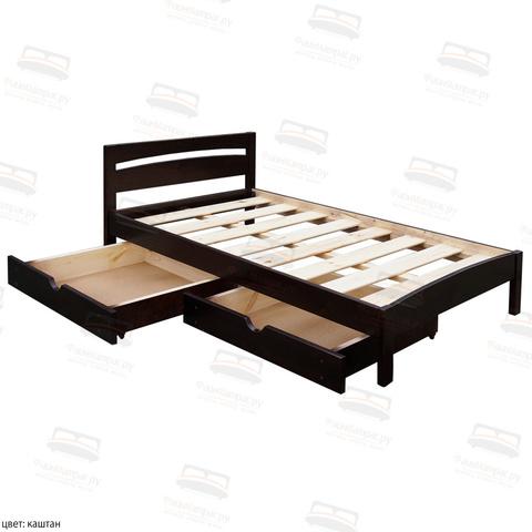 Кровать Шале Ренессанс  цвет каштан доп: опция ящики за доплату