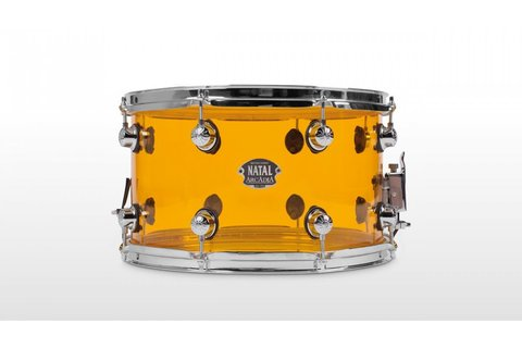 NATAL DRUMS ARCADIA ACRYLIC SNARE DRUM TRANSPARENT ORANGE малый барабан