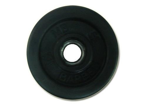 Диск для штанги стальной, цельнометаллический, обрезиненный. Диаметр внутренний 26 мм. Вес 2,0 кг.