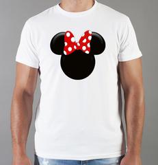 Футболка с принтом Минни Маус (Minnie Mouse) белая 0011