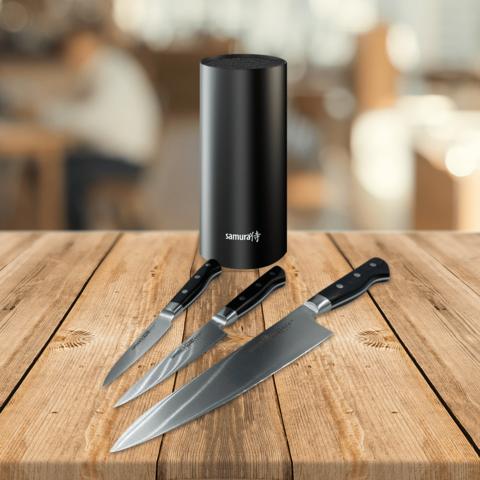 Набор из 3 ножей Samura PRO-S и подставка KBF-102
