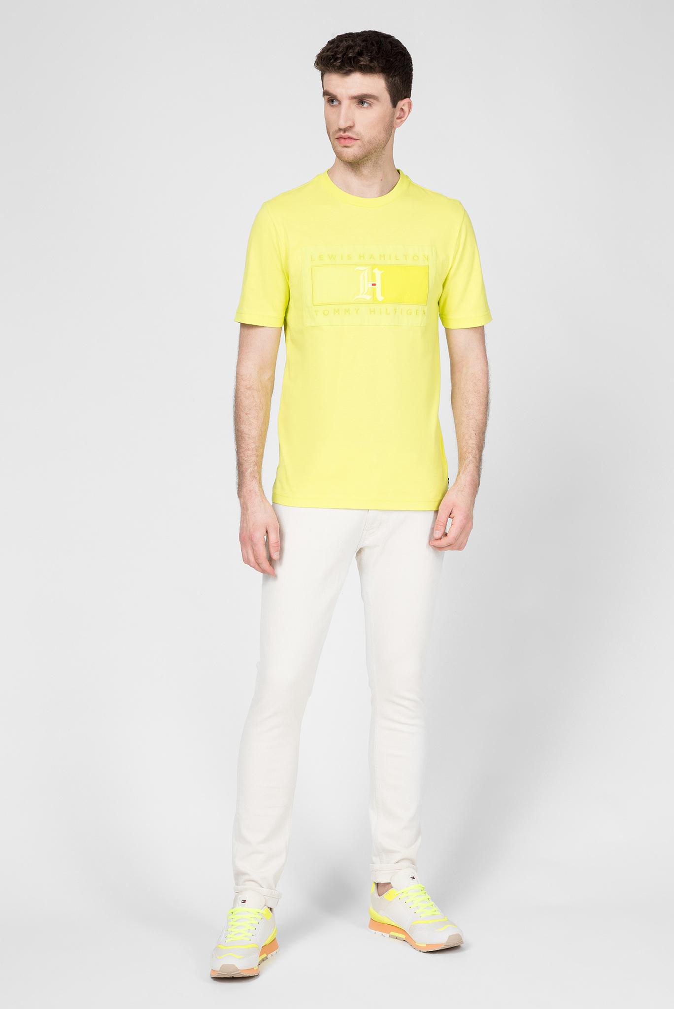 Мужская желтая футболка Lewis Hamilton Tommy Hilfiger
