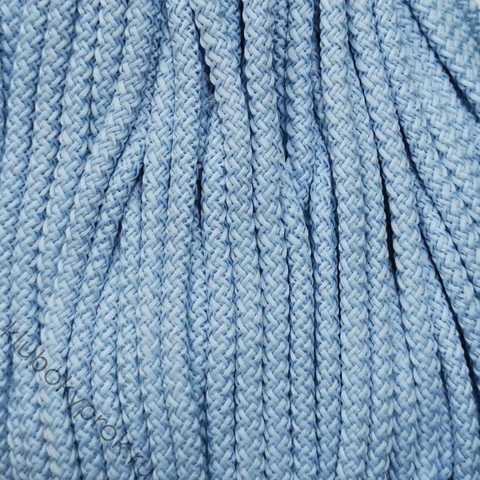 Шнур полиэфирный 5мм с сердечником 200м, №43 Голубой