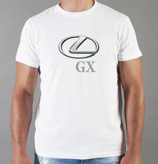 Футболка с принтом Лексус GX (Lexus GX) белая 0021