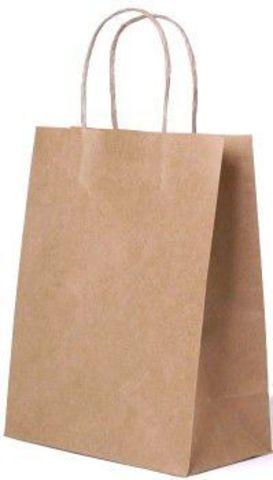 Бумажный пакет 350х150х450 мм с кручеными ручками крафт