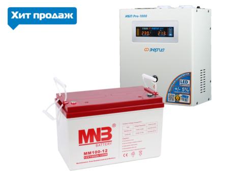Комплект ЭНЕРГИЯ PRO 1000+MNB MM12-100