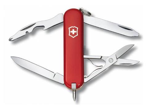 Нож-брелок Victorinox Classic, 58 мм, 10 функций, красный подар.коробка
