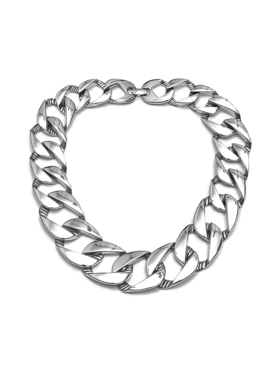 Минималистичная цепь Givenchy серебряного цвета