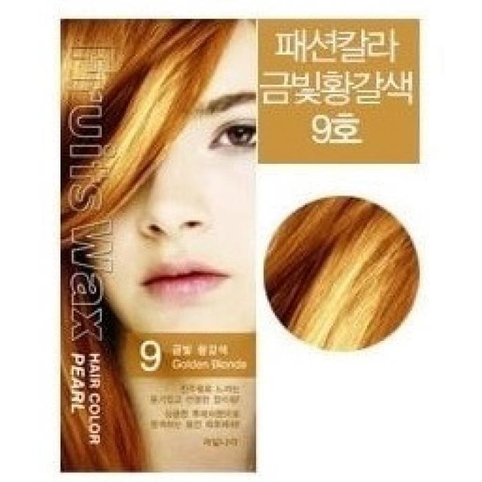 Волосы Краска для волос WELCOS на фруктовой основе Fruits Wax Pearl Hair Color #09 60мл*60гр 3b05cb4d3aaa79a0.jpg