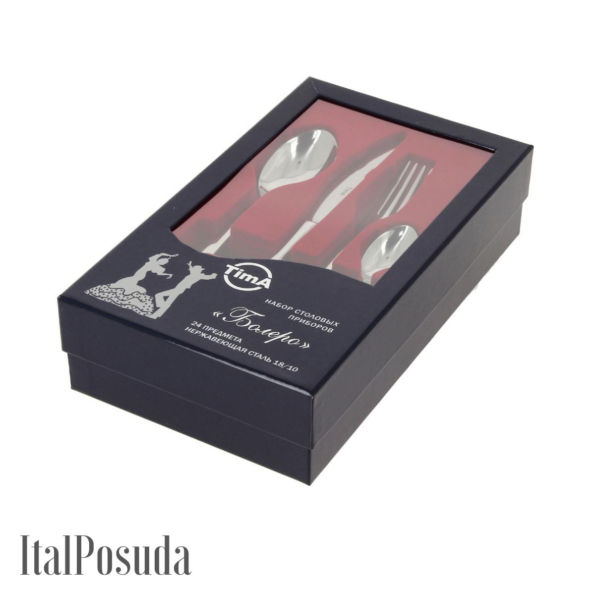 Комплект столовых приборов TimA Болеро, 16002/SS