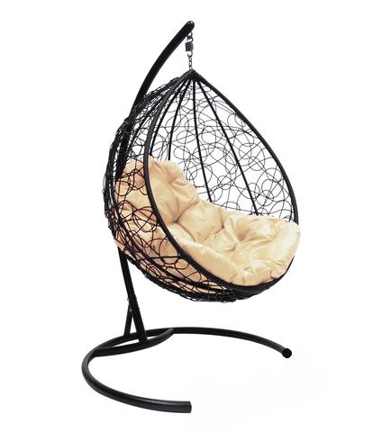Кресло подвесное Lagos black/beige