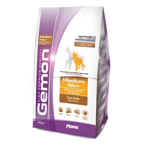 Gemon Dog Medium Сухой корм для взрослых собак средних пород с курицей