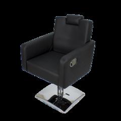 Парикмахерское кресло МД - 166 гидравлика хром, квадрат хром, регулировка спинки и подголовника