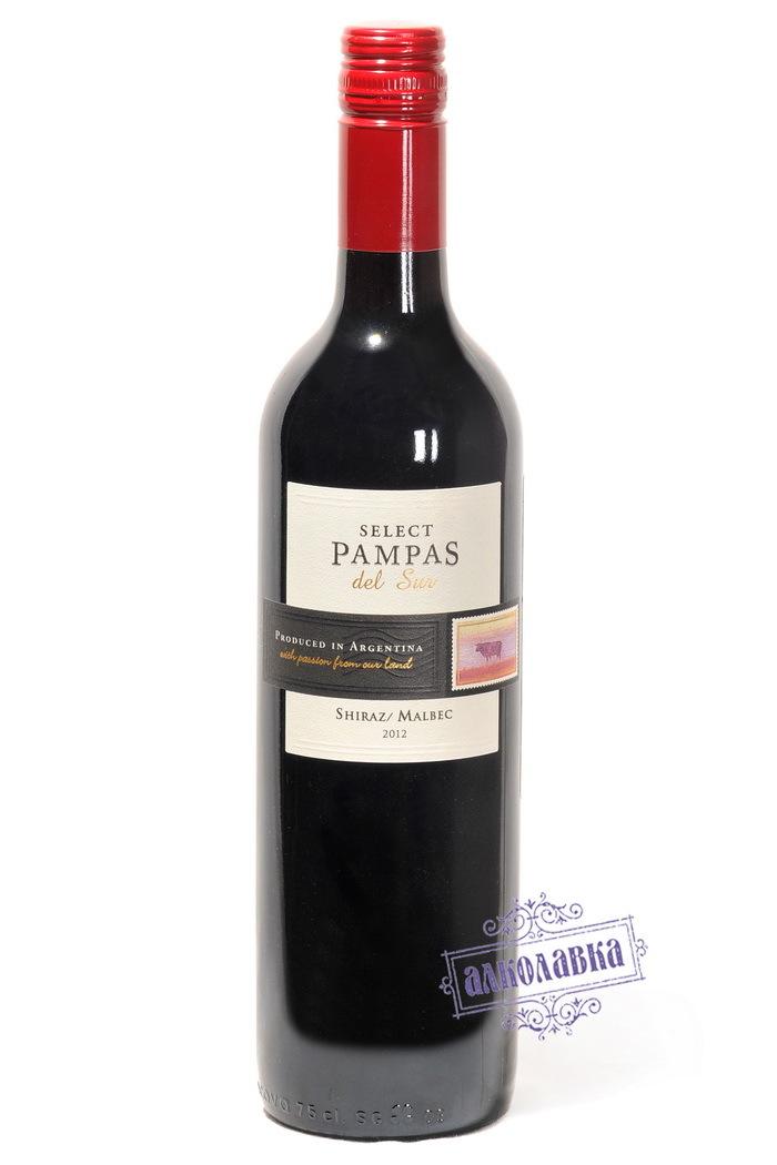 Вино Мендоса Пампас Дель Сур Селект Шираз-Мальбек красное сухое 0,75л 14%