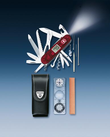 Нож Victorinox Expedition Kit, 91 мм, 44 функция, полупрозрачный красный123