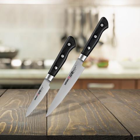 Набор из 2 ножей Samura PRO-S овощной + универсальный