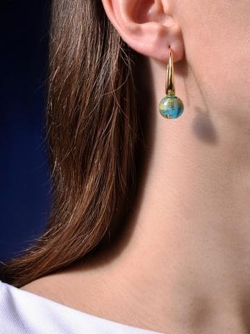 Серьги Ornella Aqua Gold 036O золотисто-голубые