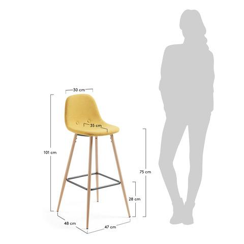 Барный стул Nilson горчичный CC0276J81